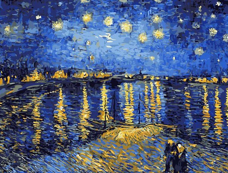 Starry Night Sky Paint by Numbers