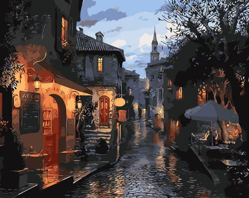 Street View at Night Paint by Numbers