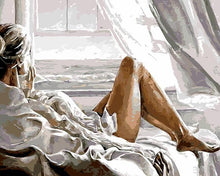 Load image into Gallery viewer, Lady in Bed Paint by Numbers