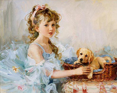 Stunning Little Girl Paint by Numbers