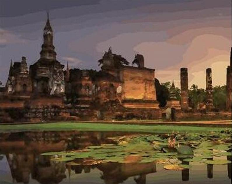 Sukhothai historical park Painting Kit