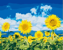 Load image into Gallery viewer, Sunflower Landscape Paint by Numbers