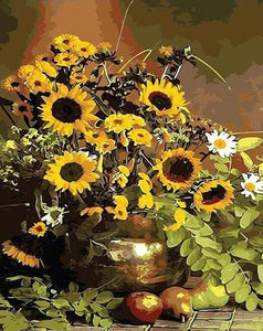 Sunflowers in Metal Pot Painting Kit