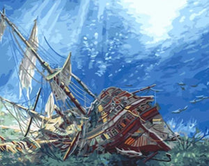 Sunk Galleon Paint by Numbers