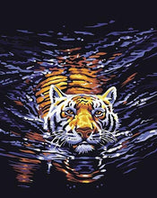Load image into Gallery viewer, Swimming tiger Paint by Numbers