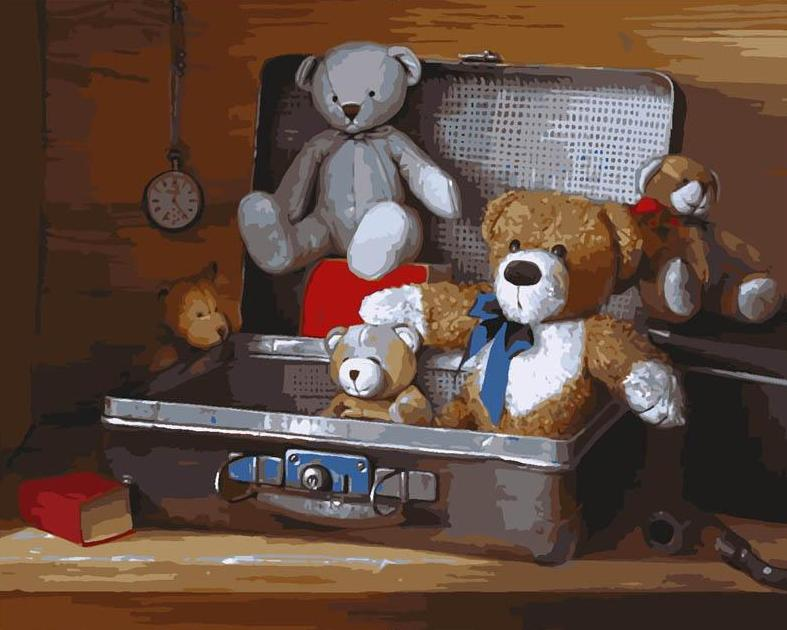 Teddy Bears Painting by Numbers