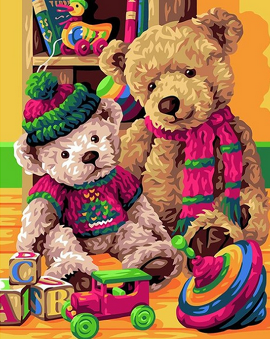 Teddy Bears & Toys Paint by Numbers