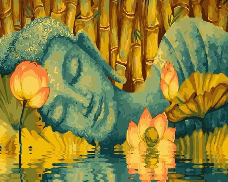 Reclining Buddha Paint by Numbers