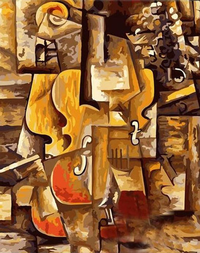 Abstract Violin Paint by Numbers