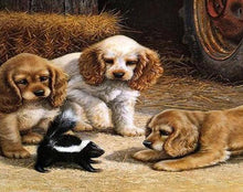 Load image into Gallery viewer, Dogs & Skunk Paint by Numbers