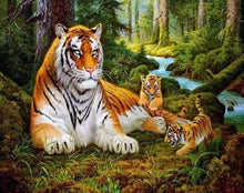 Load image into Gallery viewer, Tigers Paint by Numbers