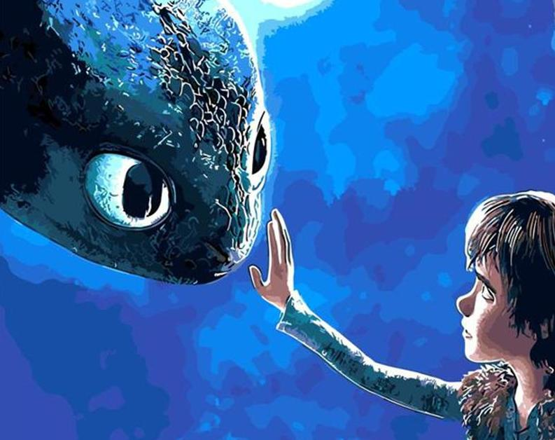 Train Your Dragon Paint by Numbers