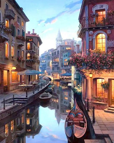 Venice Street Painting by Numbers