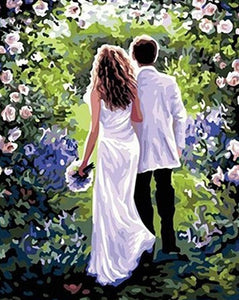 Wedding Couple Painting by Numbers