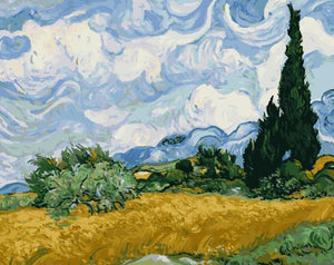 Wheat Field Paint by Numbers