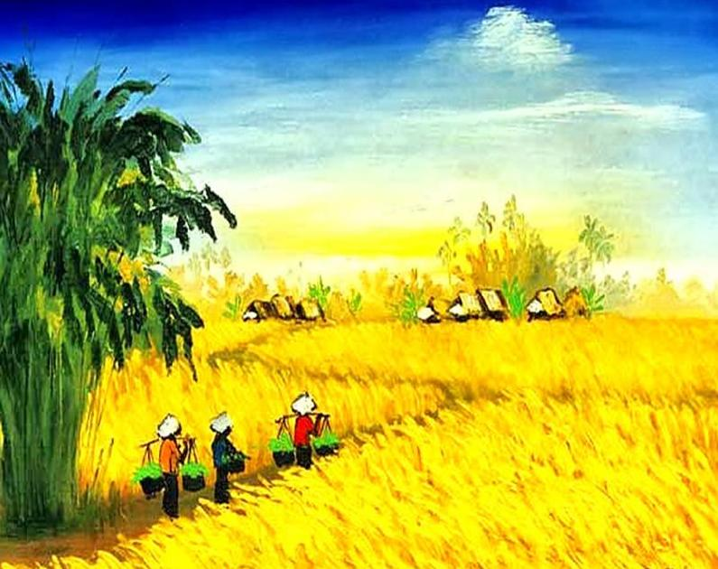 Yellow Fields Paint by Numbers