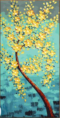 Yellow Floral Art Paint by Numbers