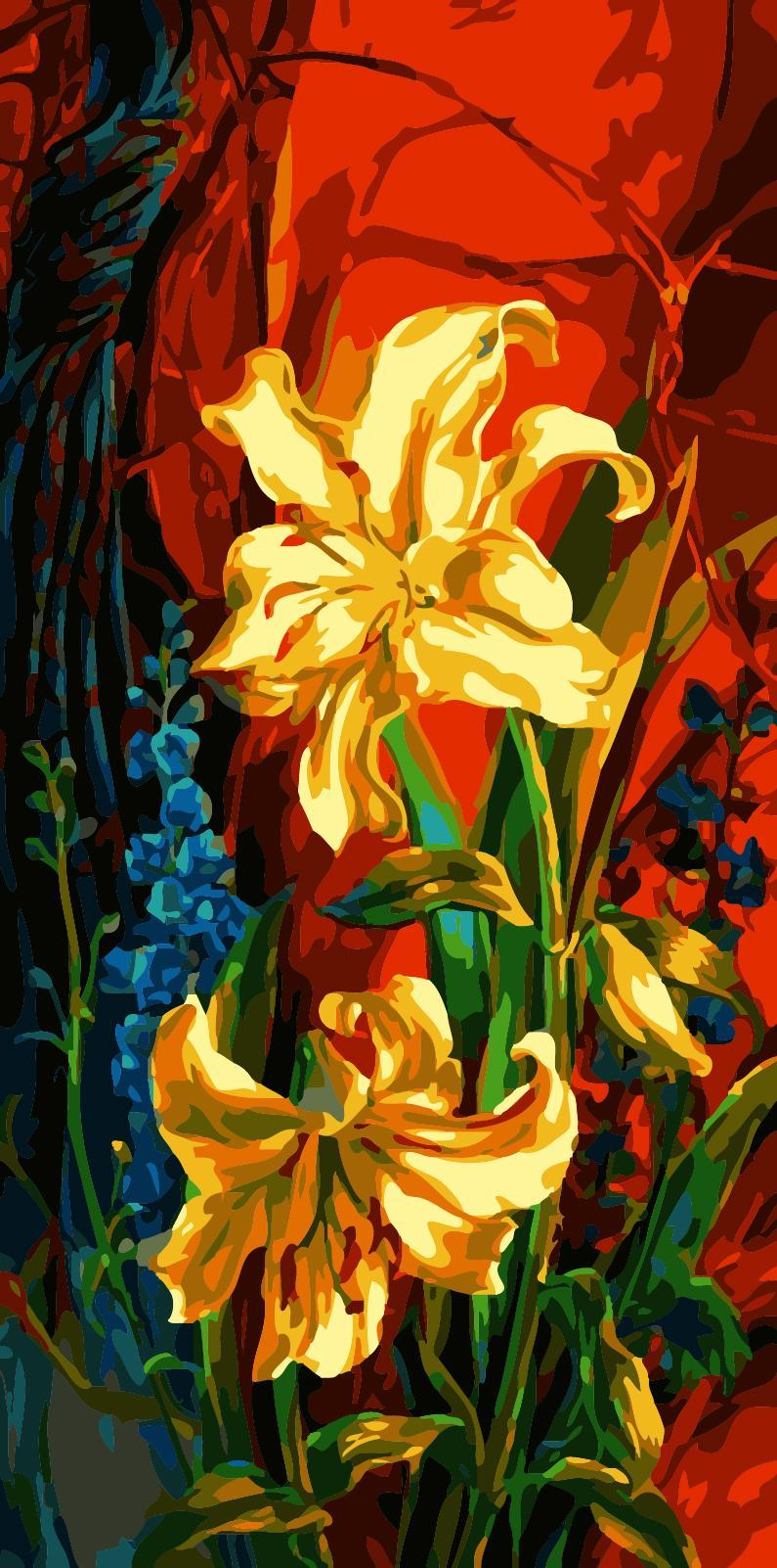 Yellow Lilies Painting by Numbers