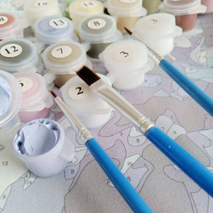 Floral Paint by Numbers Kit