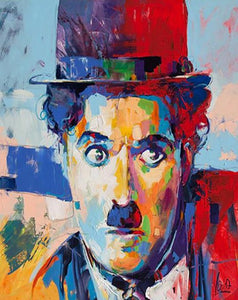 Charlie Chaplin Painting by Numbers