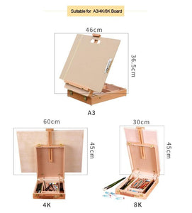 Wooden Easel with Storage