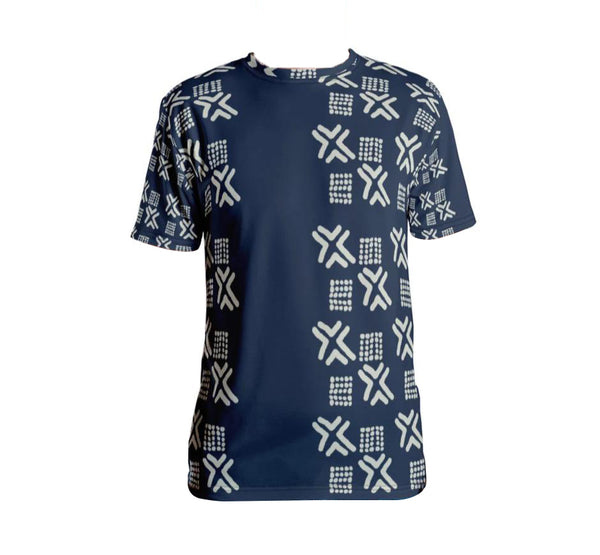 Blue Mudcloth - Men's T-shirt-Zulu Moon Market