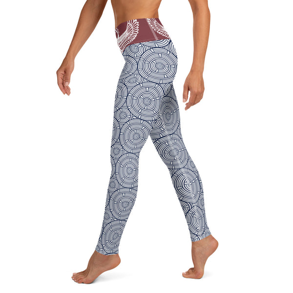 Kemetic Yoga - Women's Leggings-Zulu Moon Market