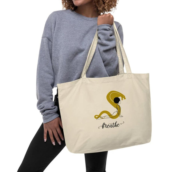 Breathe - Large Organic Tote Bag