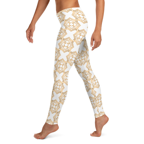 Golden Geometric - Leggings-Zulu Moon Market