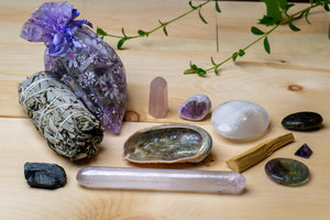 Smudging and Crystals Good Vibrations Box- Top Quality!
