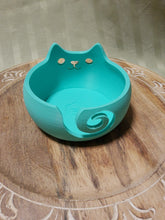 Load image into Gallery viewer, Printed Cat Yarn Bowl- Mint (4.5inWx3inD)-Plastic