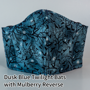 Dusk Blue Twilight Bats with Mulberry Reverse - Adult Size