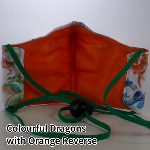 Colourful Dragons with Orange Reverse - Kid Size