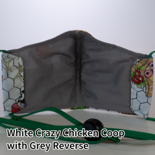 Load image into Gallery viewer, White Crazy Chicken Coop with Grey Reverse - Kid Size
