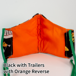 Black with Trailers with Orange Reverse - Kid Size