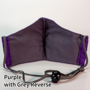Purple with Grey Reverse - Tween/Adult Small Size