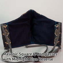 Load image into Gallery viewer, Masonic Square & Compasses with Midnight Blue Reverse - Tween/Adult Small Size