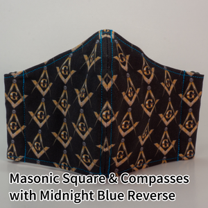 Masonic Square & Compasses with Midnight Blue Reverse - Tween/Adult Small Size