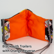 Load image into Gallery viewer, Black with Trailers with Orange Reverse - Wee Size