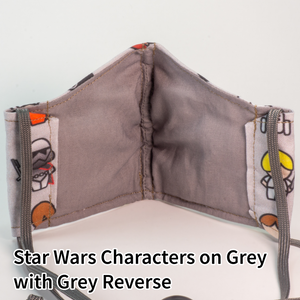 Star Wars Characters on Grey with Grey Reverse - Wee Size