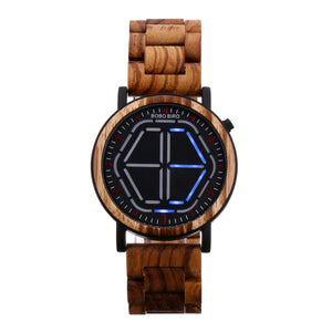 Creative Night Vision Wooden Watch - DealsNode