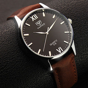 YAZOLE 318 Men Watch Luminous Display Casual Style Clock Quartz Watches - DealsNode