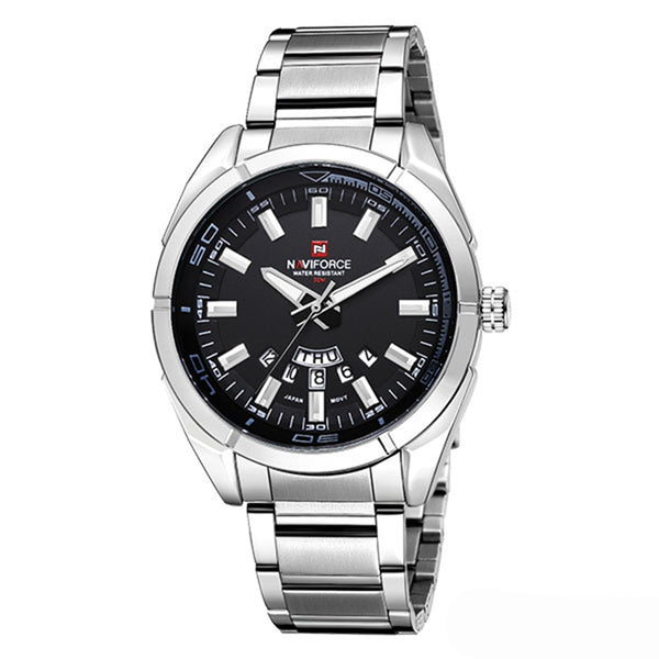 NAVIFORCE 9038 Waterproof Calendar Men Wrist Watch Full Steel Clock Quartz Watches - DealsNode