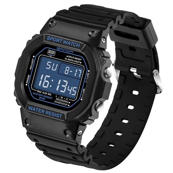 SANDA 329 Fashion LED Display Men Watch  Waterproof Sport Digital Watch - DealsNode