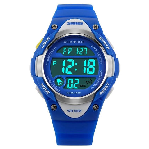 SKMEI Children Cute Sport Wristwatch Fashion Kids Digital Electronic Buckle Watch Chronograph Week Display Alarm Time Clock