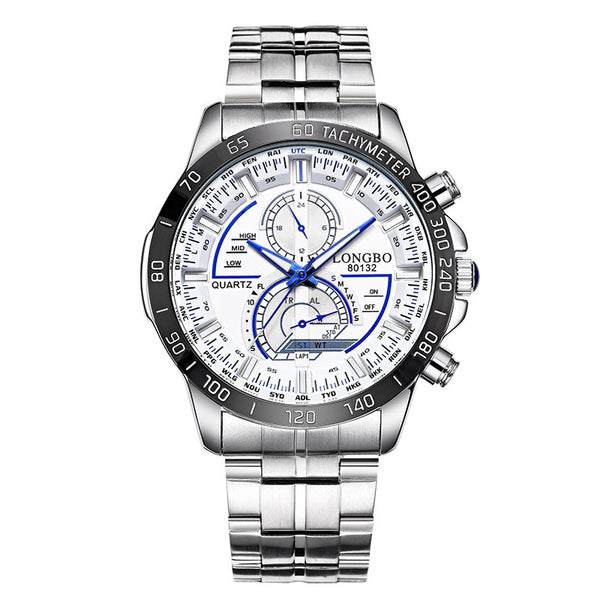 LONGBO Stainless Steel Wrist Watch - DealsNode