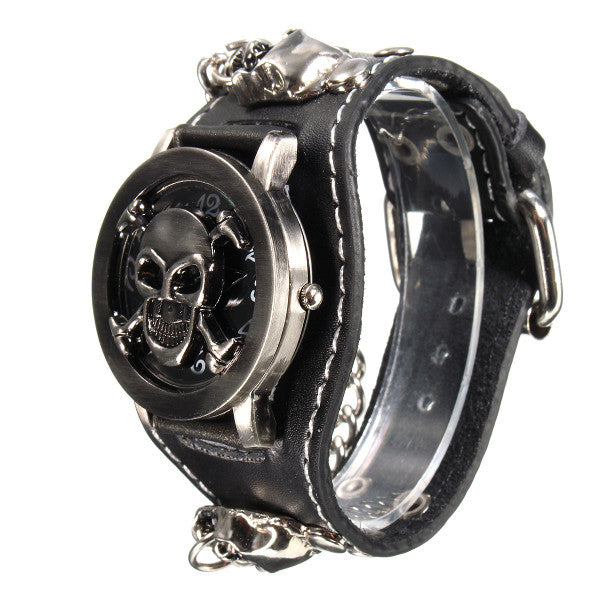 Vintage Punk Gothic Skull Case Watch - DealsNode