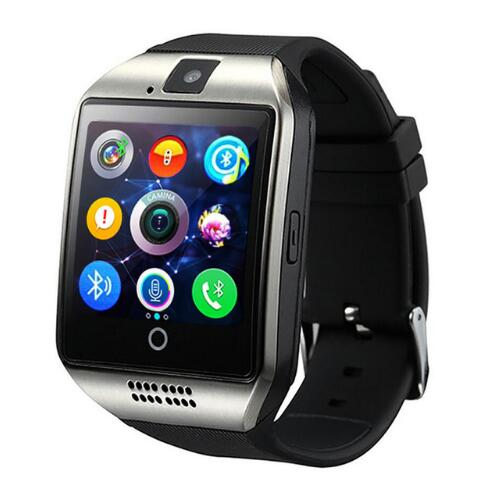 Bluetooth Smart Watch men Q18 With Camera Facebook Whatsapp Twitter Sync SMS Smartwatch Support SIM TF Card For IOS Android - DealsNode