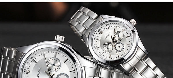 SINOBI Women Watch Elegant Brand Famous Luxury Silver Quartz Watches Ladies Steel Antique Geneva Wristwatches - DealsNode