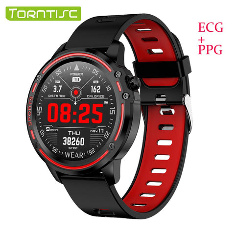 Torntisc L8 Smart Watch Men ECG PPG Blood Pressure Heart Rate Blood Oxygen Measurement Sport Smartwatch Waterproof IP68 - DealsNode